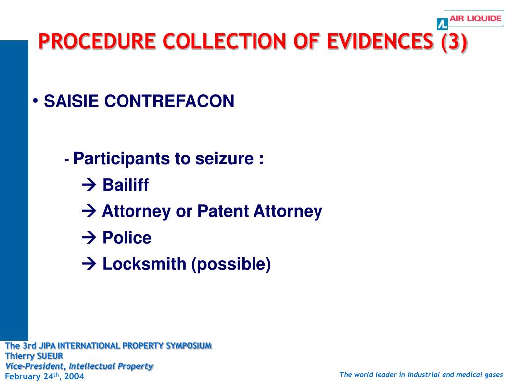 PROCEDURE COLLECTION OF EVIDENCES (3)