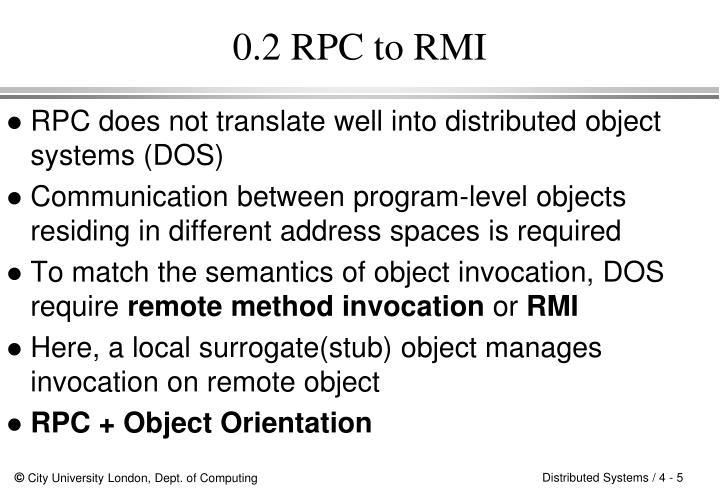 0.2 RPC to RMI