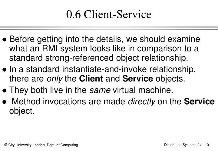 0.6 Client-Service
