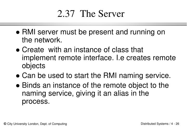 2.37  The Server