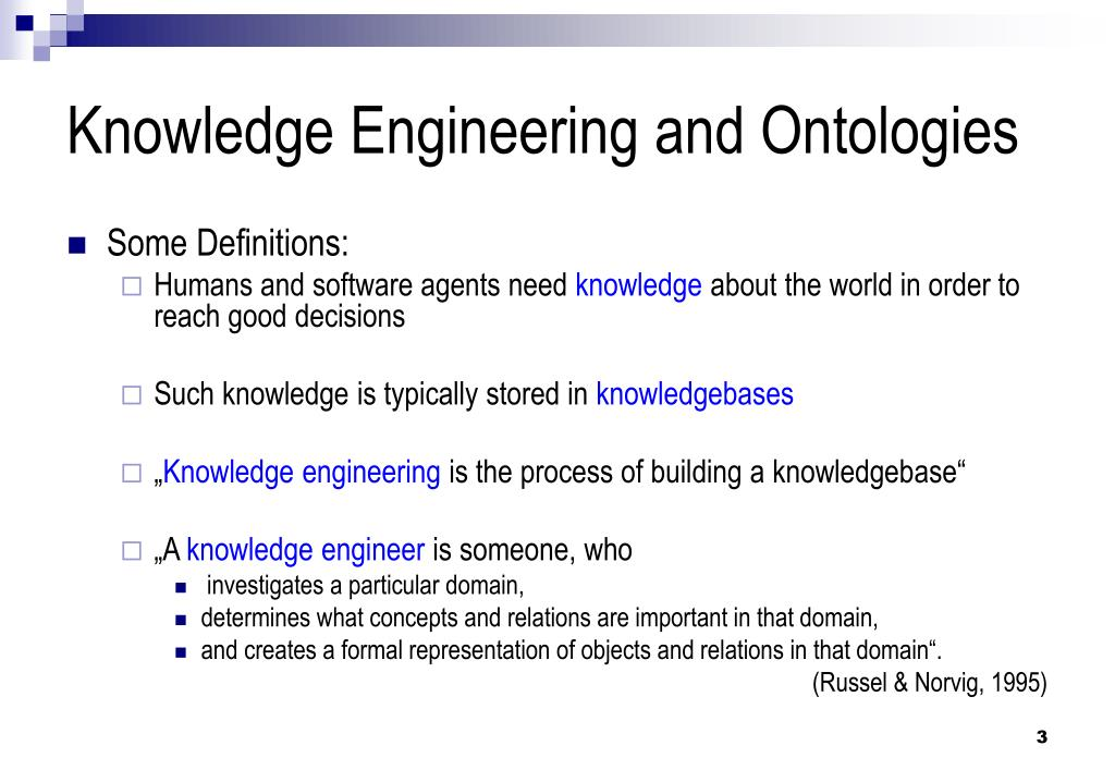 Knowledge Engineering and Ontologies
