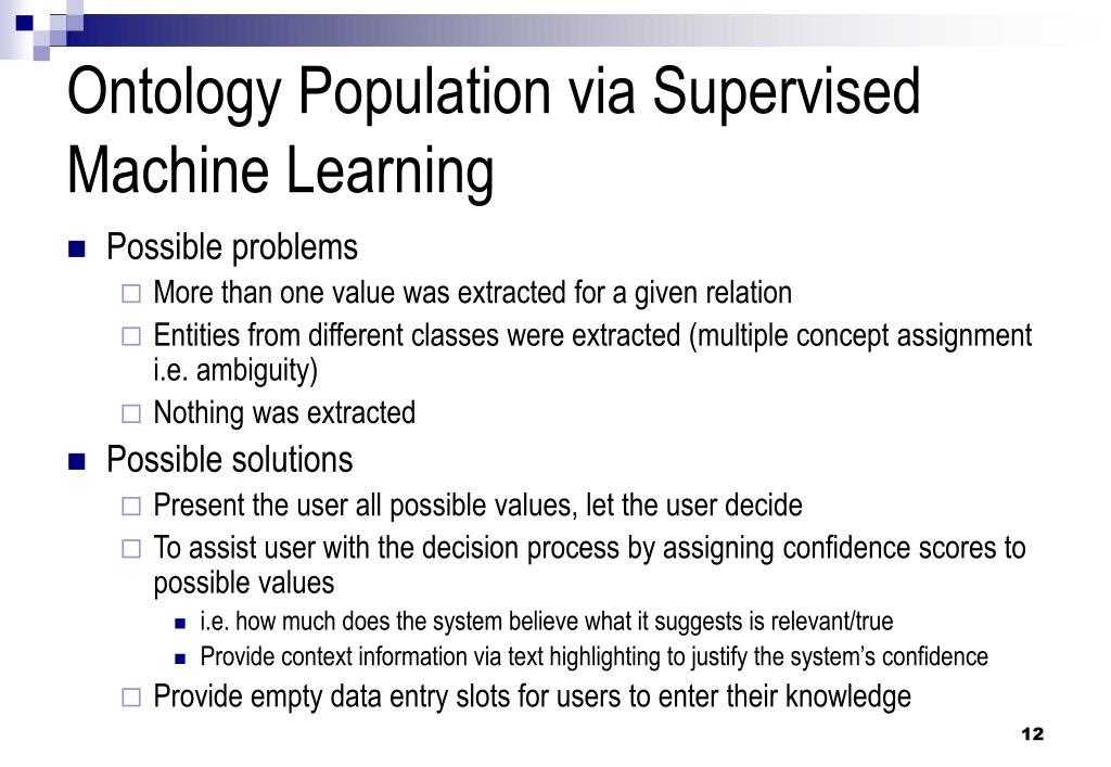 Ontology Population via Supervised Machine Learning