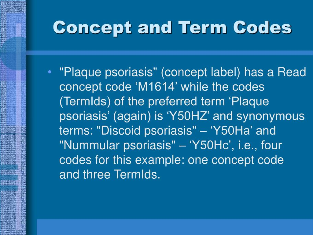 Concept and Term Codes