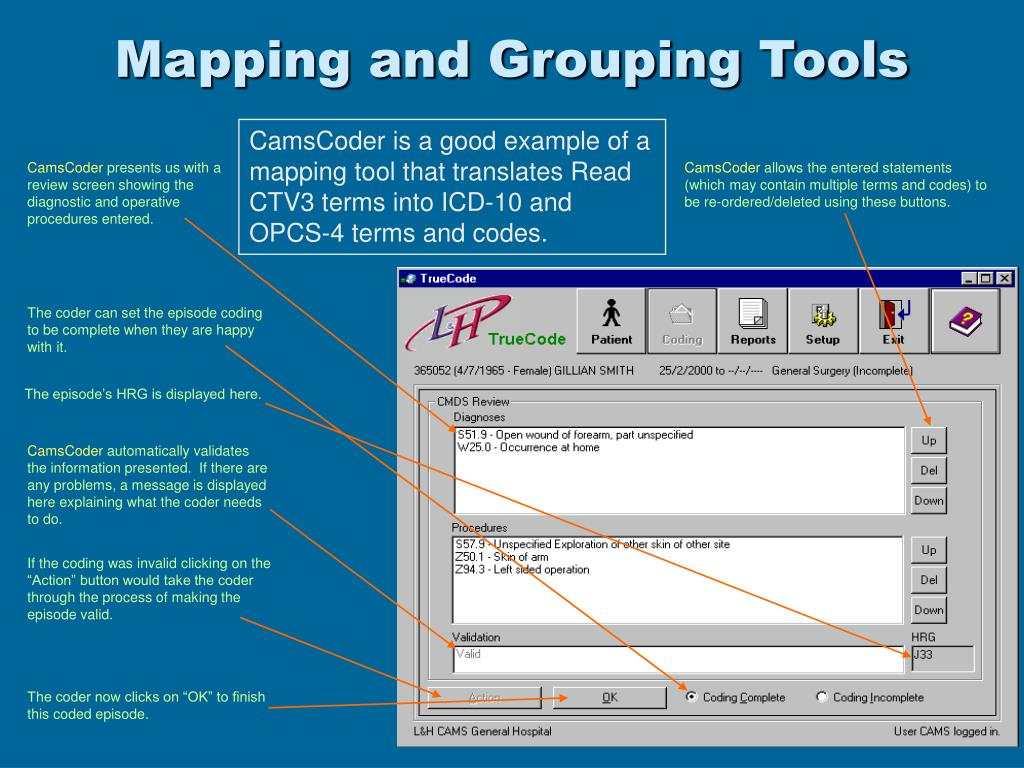 Mapping and Grouping Tools