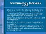 terminology servers cont d