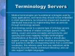 terminology servers