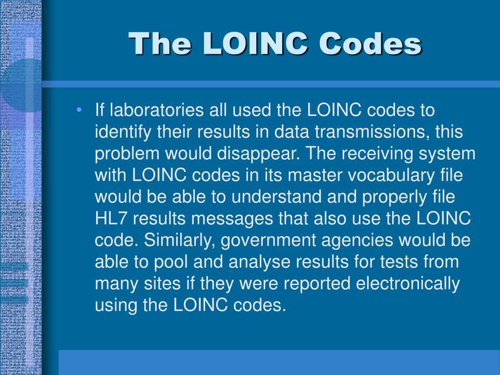 The LOINC Codes
