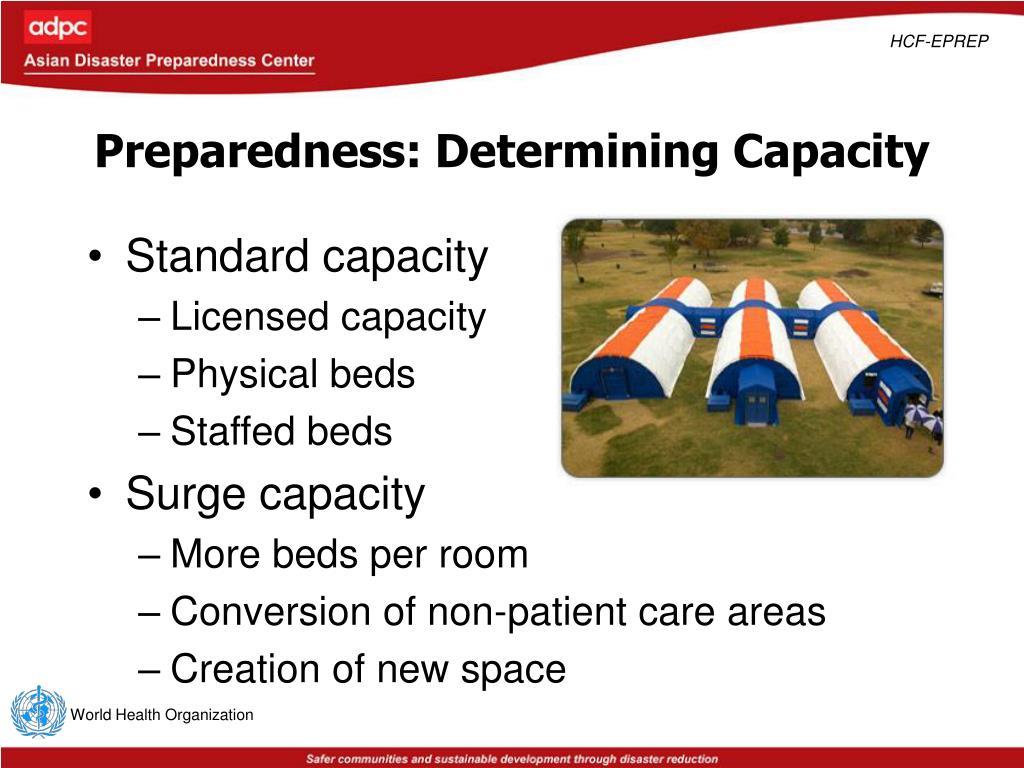 Preparedness: Determining Capacity