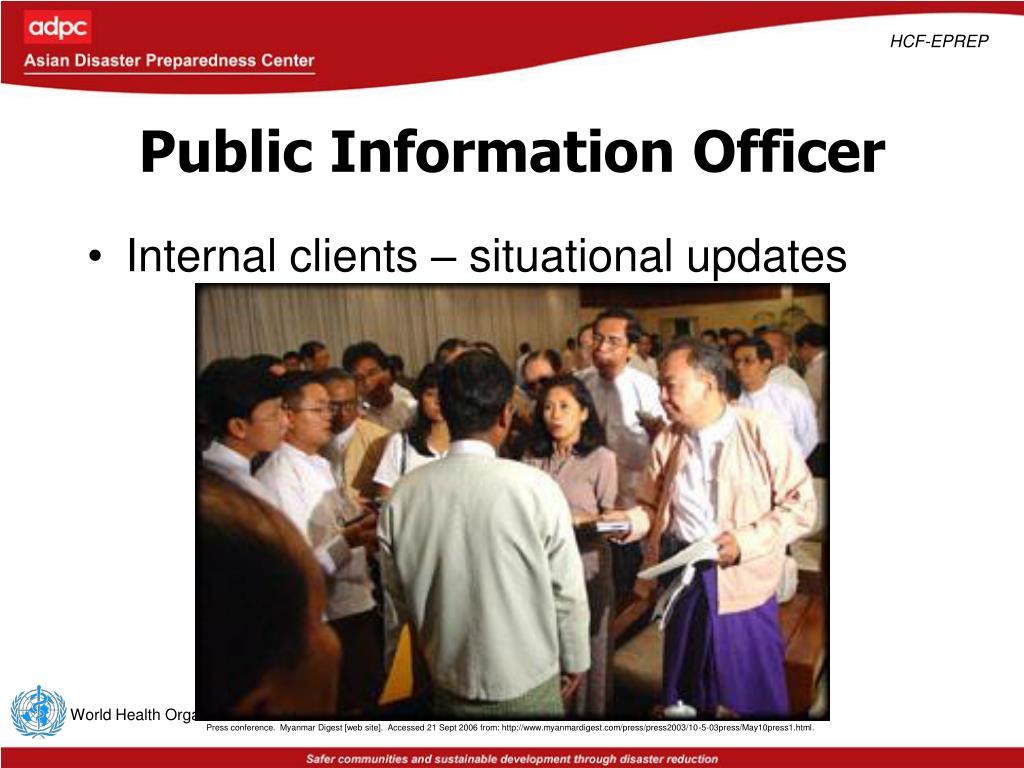 Public Information Officer