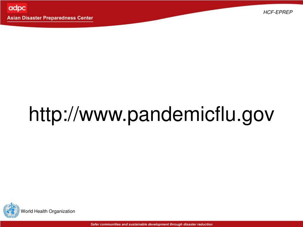 http://www.pandemicflu.gov