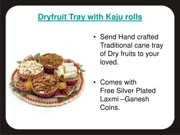 Send Hand crafted Traditional cane tray of Dry fruits to your loved.