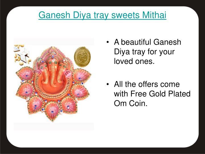 Ganesh Diya tray sweets Mithai