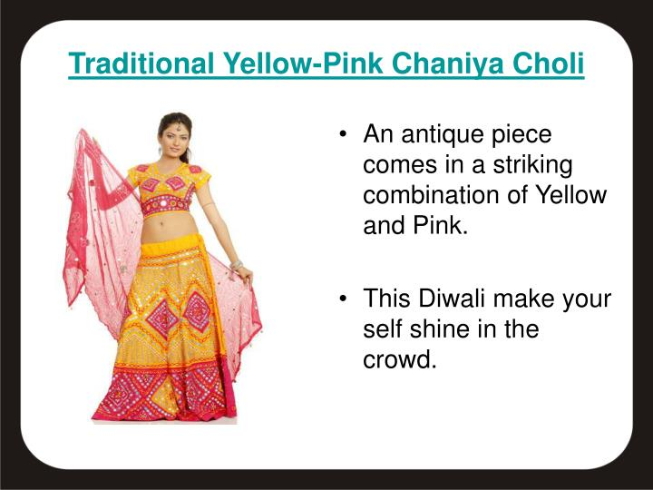 An antique piece comes in a striking combination of Yellow and Pink.