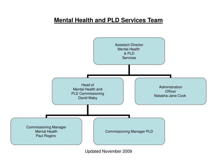 Mental Health and PLD Services Team