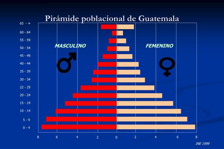 Pirámide poblacional de Guatemala