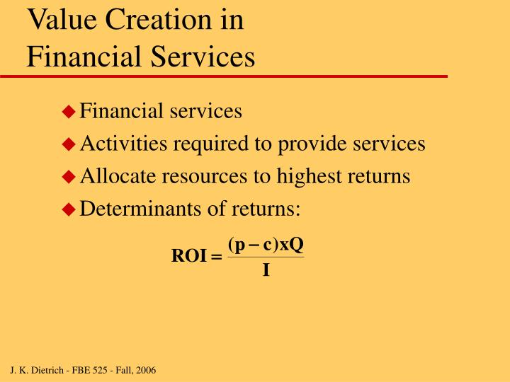 Value Creation in