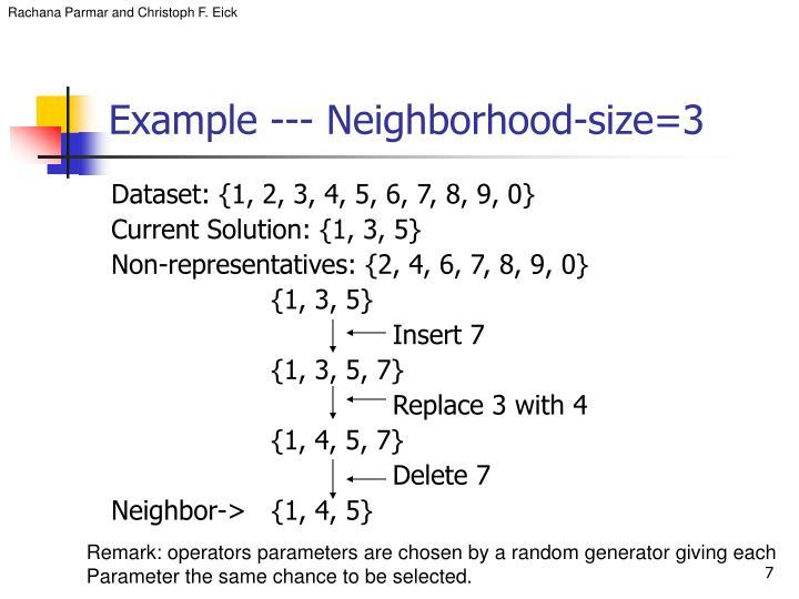 Example --- Neighborhood-size=3