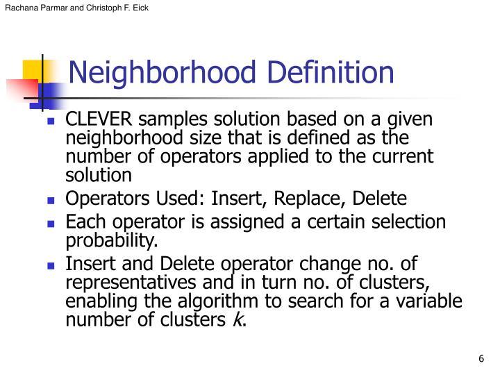 Neighborhood Definition