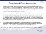 basic crude oil sales arrangements