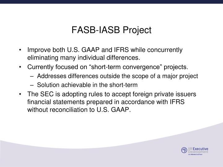 FASB-IASB Project