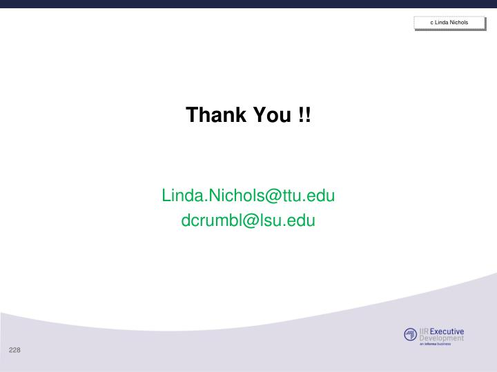 c Linda Nichols