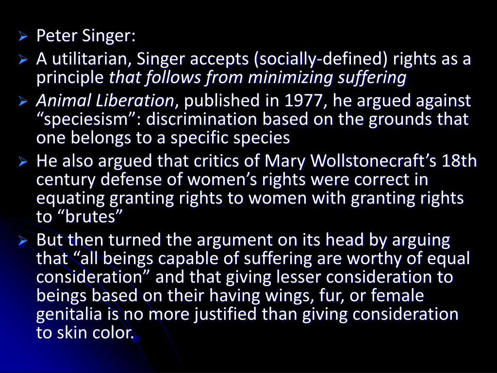 Peter Singer: