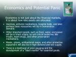 economics and potential panic