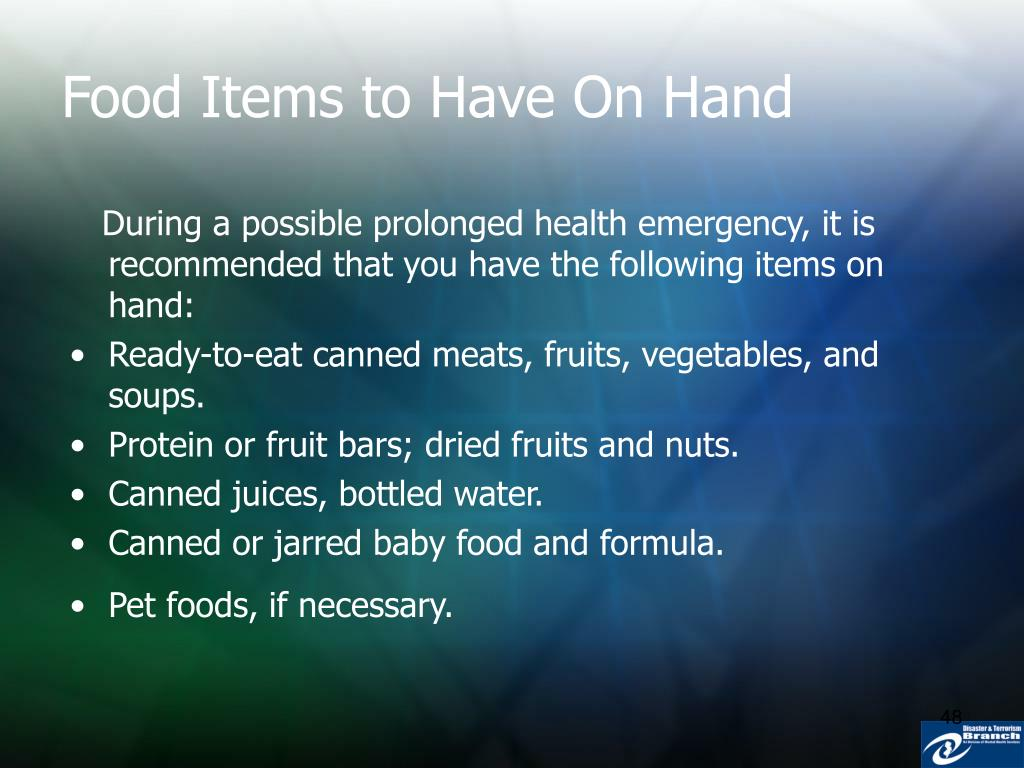 Food Items to Have On Hand