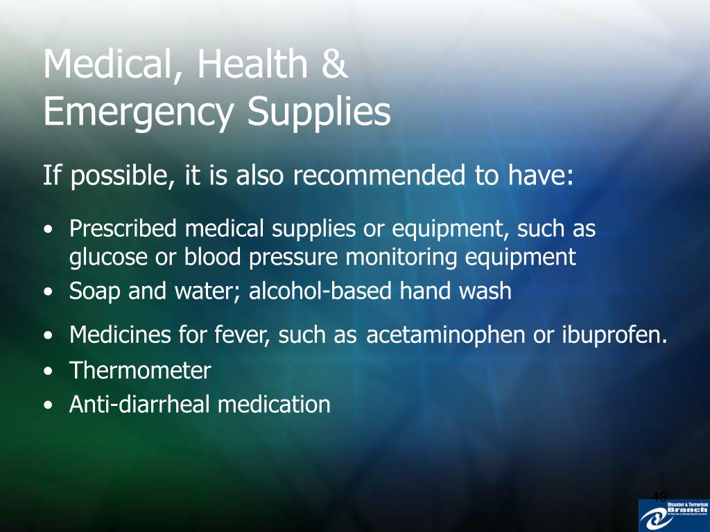 Medical, Health & Emergency Supplies