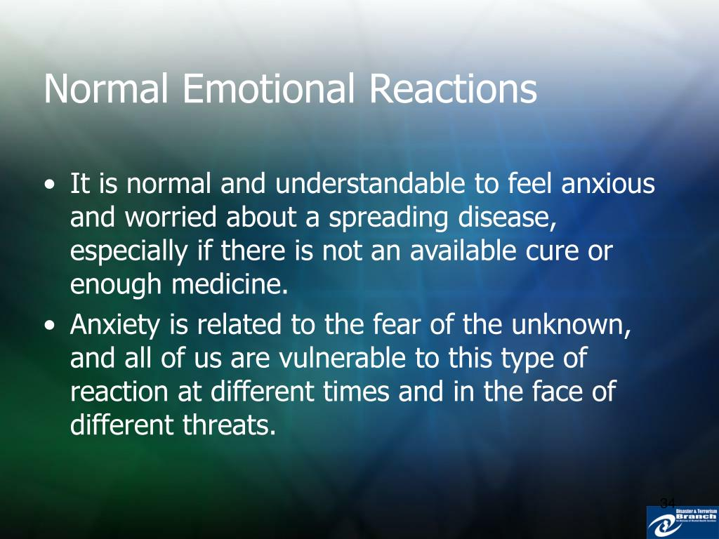 Normal Emotional Reactions