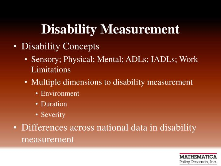 Disability Measurement