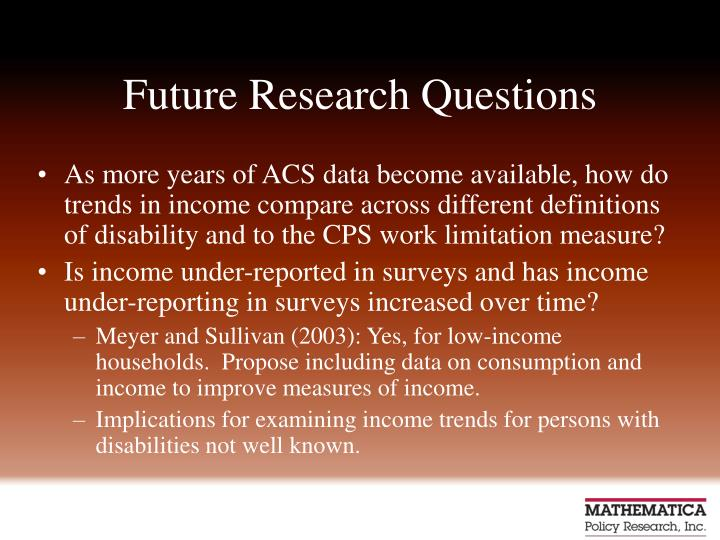 Future Research Questions