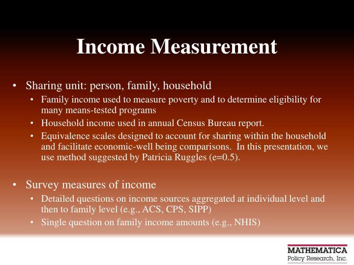 Income Measurement