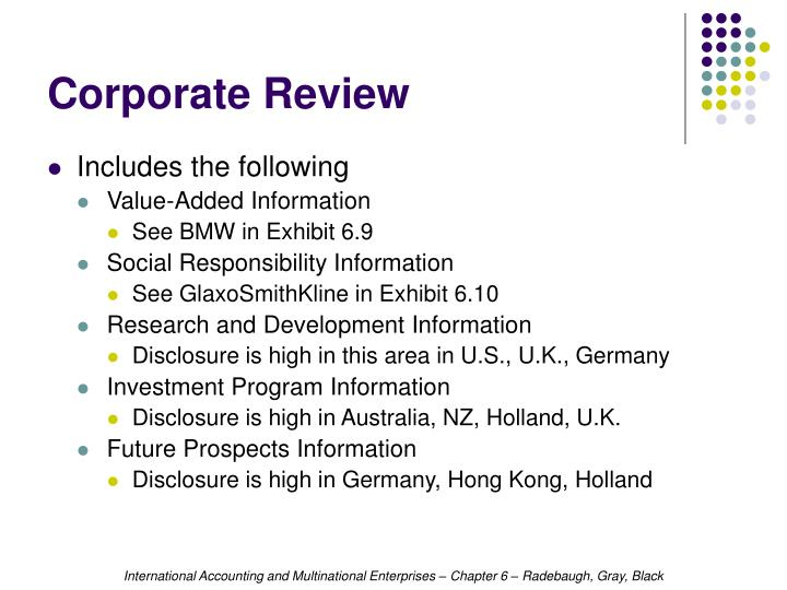 Corporate Review