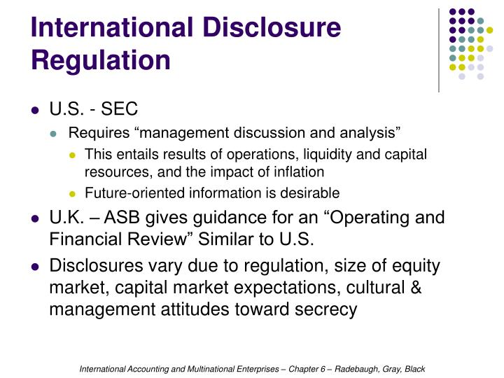International Disclosure Regulation