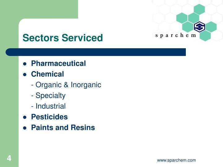 Sectors Serviced