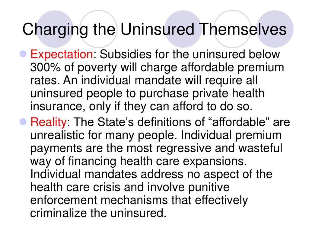 Charging the Uninsured Themselves