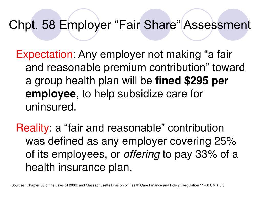 "Chpt. 58 Employer ""Fair Share"" Assessment"