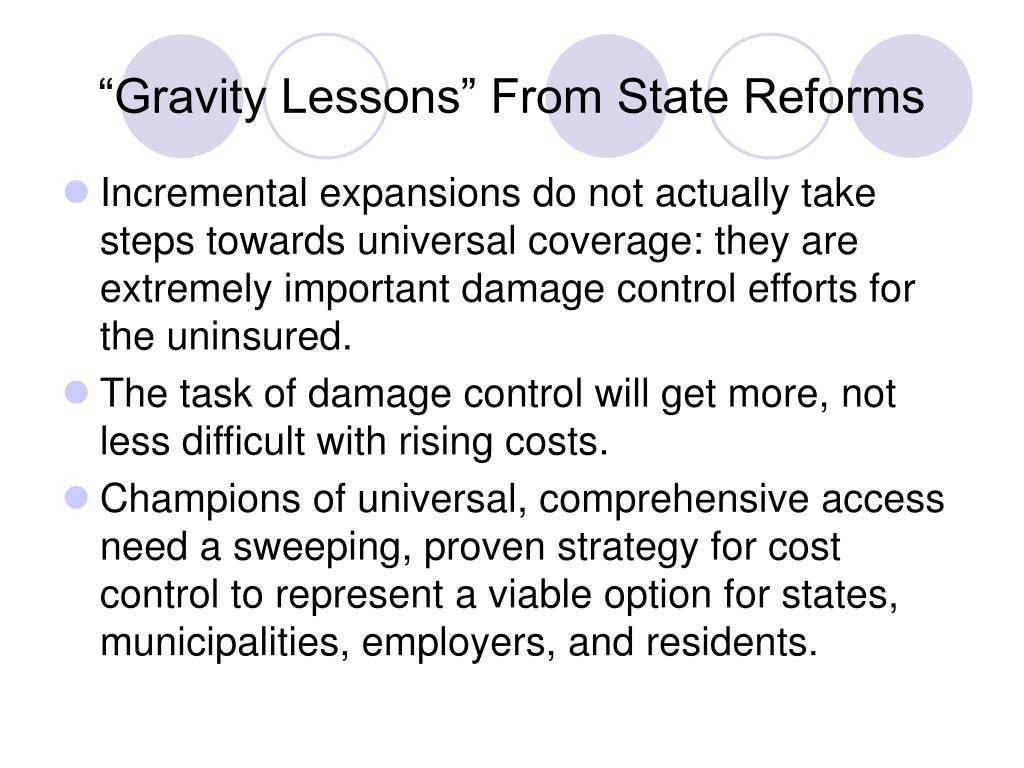 """""""Gravity Lessons"""" From State Reforms"""