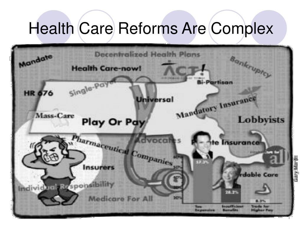 Health Care Reforms Are Complex