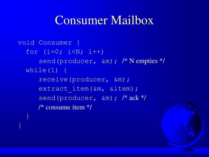 Consumer Mailbox