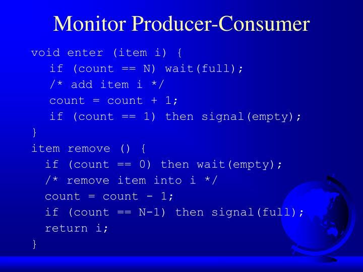 Monitor Producer-Consumer