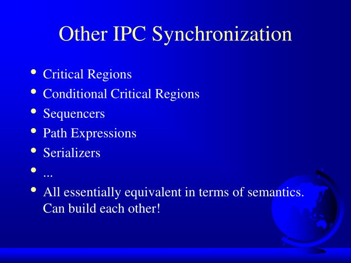 Other IPC Synchronization