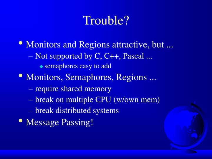 Trouble?