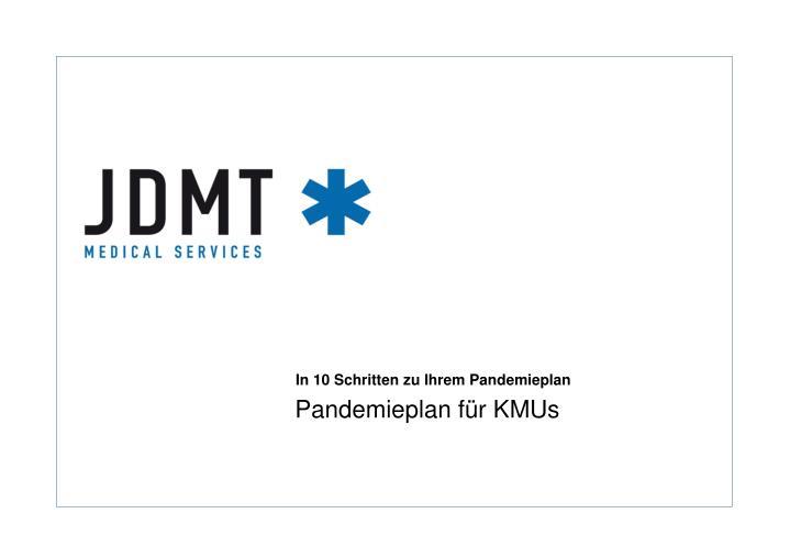 Pandemieplan für KMUs