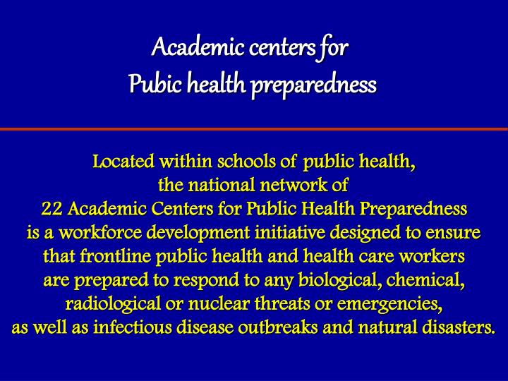 Academic centers for