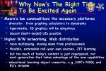 why now s the right time to be excited again