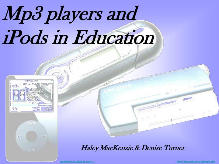 Mp3 players and iPods in Education