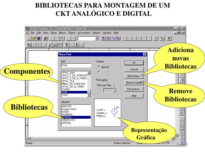 BIBLIOTECAS PARA MONTAGEM DE UM