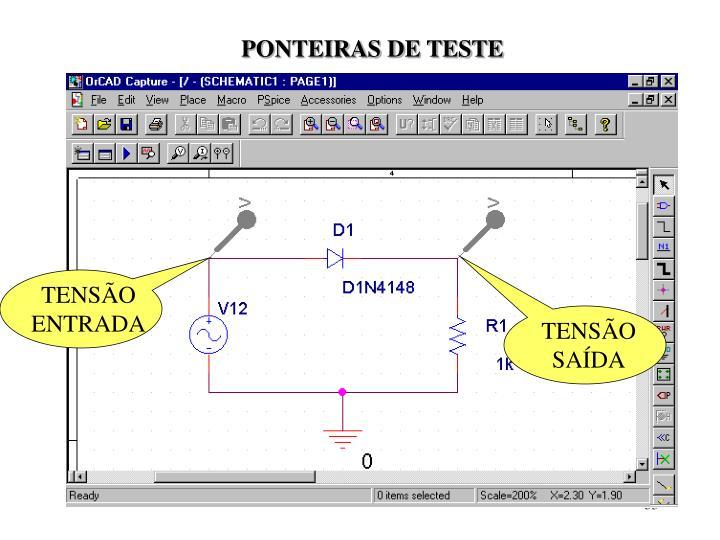 PONTEIRAS DE TESTE